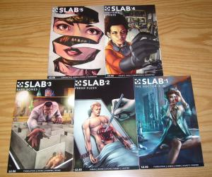 Slab #1-5 VF/NM complete series - night of the living dead - double take set lot