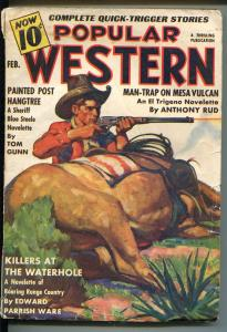 POPULAR WESTERN 2/1938-THRILLING-SHERIFF BLUE STEELE-PARKHURST-vg