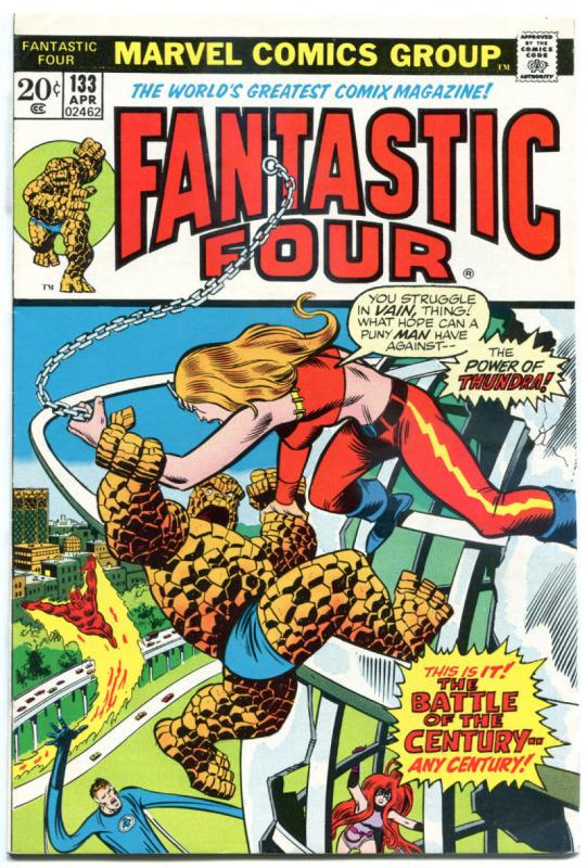 FANTASTIC FOUR #133, VF+, Thundra vs Thing, Medusa, 1961, more FF in store