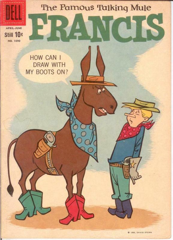 FRANCIS F.C.1090 VG-F Apr.-June 1960 COMICS BOOK