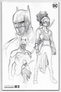 Batman Black And White #3 Tim Fox 2nd Printing Variant (DC, 2021) NM