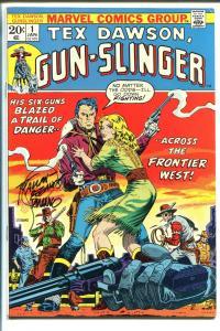 TEX DAWSON, GUN-SLINGER #1 1973-STERANKO AUTOGRAPHED COVER-1ST ISSUE-vf minus