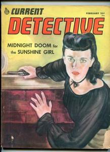CURRENT DETECTIVE-FEB. 1946-DOOM-MURDER-ARSON-GUNMAN-HOMICIDE-MYSTERY VG