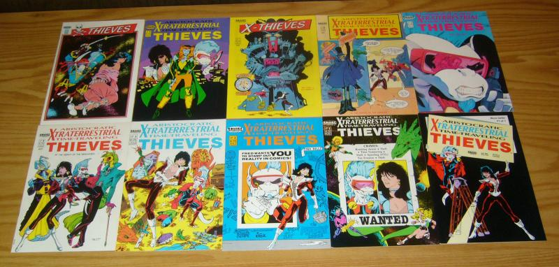 Aristocratic X-traterrestrial Time-Traveling Thieves #1-12 + (1) VF/NM complete
