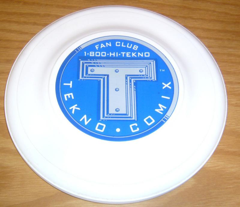 Tekno Comix Fan Club 7 Frisbee - promotional flying disc toy neat rare promo