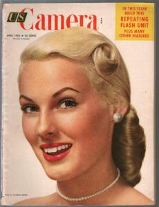U.S. Camera 4/1952-pin-up portrait cover-photography-camera-VG/FN