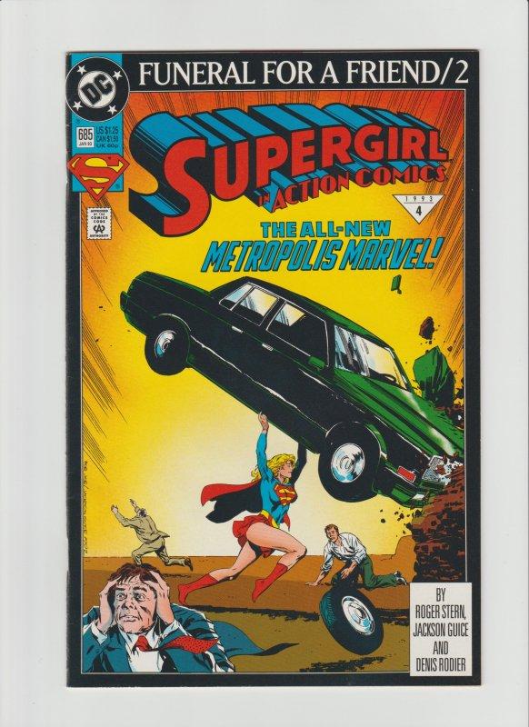 Action Comics #685 VF 8.0 (1993, DC Comics) Cover Swipe Issue #1!!!