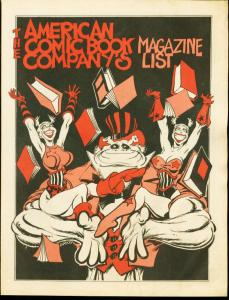 AMERICAN COMIC BOOK CO-MAGAZINE PRICE LIST-1970'S-PHOTO G/VG