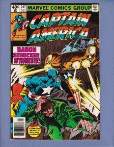 Captain America #247 NM- Baron Strucker Appearance John Byrne Marvel 1980
