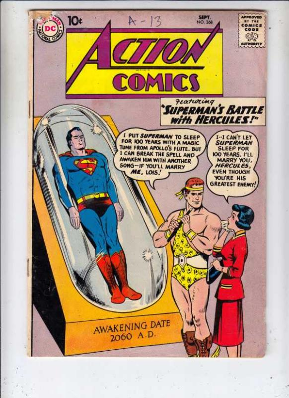 Action Comics #268 (Oct-60) VG+ Affordable-Grade Superman, Supergirl