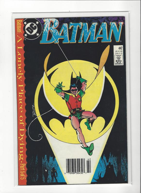 BATMAN #442 LONELY PLACE OF DYING PT5 1ST NEW ROBIN  NM Nice Copy