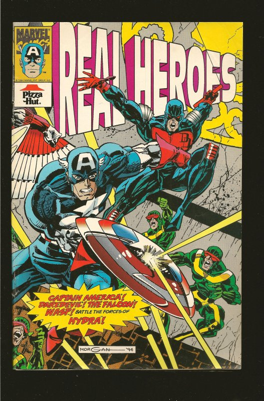 Marvel Comics Pizza Hut Real Heroes #3 (1994) SALVAGED >PLEASE READ NOTE<