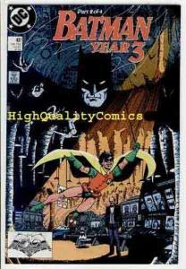 BATMAN #437, NM+, Wolfman, Year 3, Tim Drake, Origin Robin, more BM in store