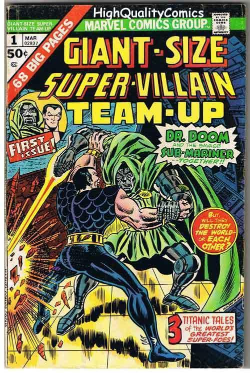 GIANT-SIZE SUPER-VILLAIN TEAM-UP #1, FN, Sub-Mariner, 1975