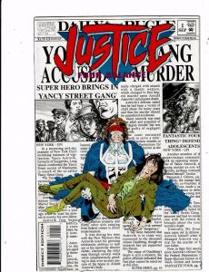 Lot of 4 Justice Marvel Comic Books #1 2 3 4 BH51