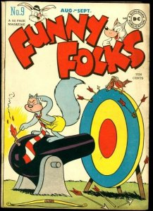 FUNNY FOLKS #9-NUTSY SQUIRREL COVER-DC COMICS VG/FN