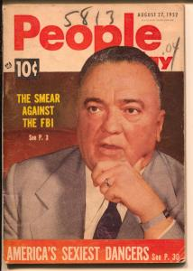 People Today 8/27/1962-FBI-Hoover-Lilly Christine-cheesecake-exploitation-VG