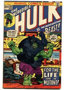 Incredible Hulk #161 comic book-marvel-Beast vs. Hulk VG/FN