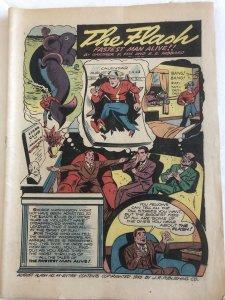 The Flash 44(1943)Flat great coverless book,C my Batman too!