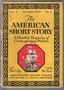 American Short Story #1 11/1929-1st issue-85+years old-pulp thrills-VG-