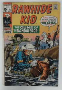Rawhide Kid #76 Marvel Comic 1971 Bronze Age  FN  Western Cowboy Comics
