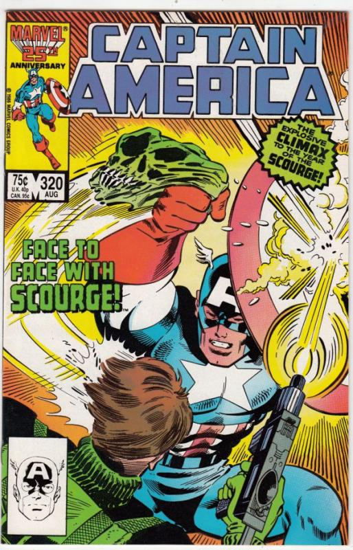 Captain America #320 (Aug-86) NM- High-Grade Captain America