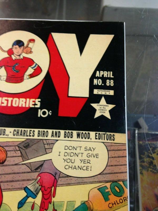 Boy Comics 88 VG/VG+ (Apr. 1950)  (Boy Illustories)