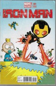 Iron Man #1 (Marvel, 2013) Skottie Young Baby Variant