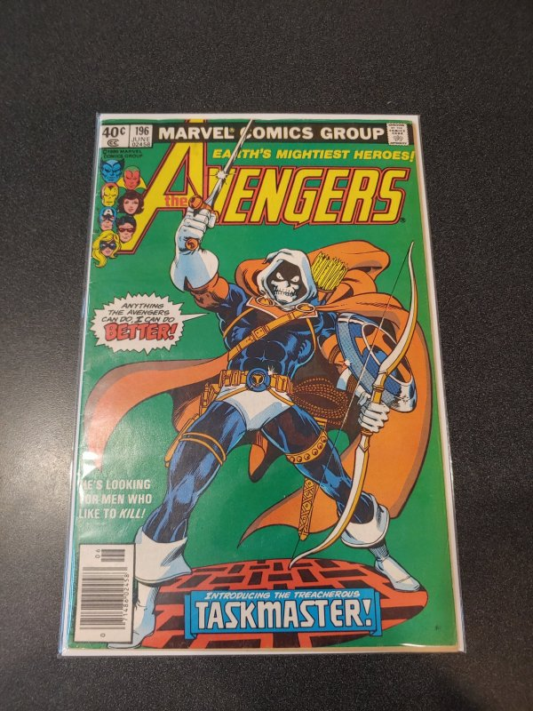 AVENGERS # 196 ( 1980 ) 1ST APP TASKMASTER! HOT BOOK! BLACK WIDOW MOVIE!