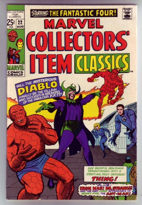 Marvel Collectors' Item #22 (Aug-69) VF/NM High-Grade Fantastic Four, Mr. Fan...