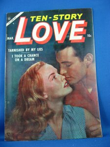 TEN STORY LOVE Vol 36 #5 VF+ 1956 Photo Cover