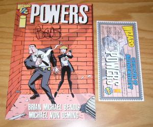 Powers #½ VF/NM signed by brian michael bendis - half 1/2 with Wizard COA