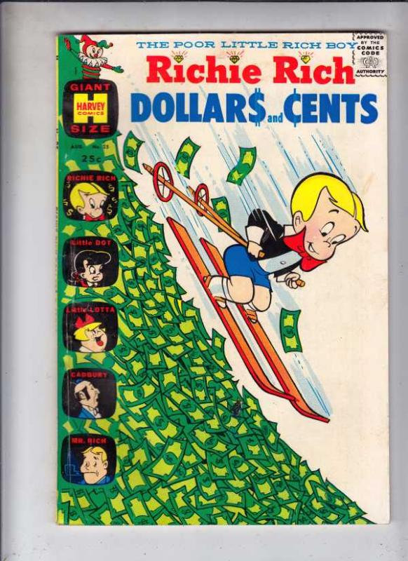 Richie Rich Dollars and Cents #25 (Aug-68) FN/VF Mid-High-Grade Richie Rich