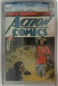 Action Comics #4 ~ 1938 DC ~ CGC 6.0 (FN), 4th Appearance of Superman