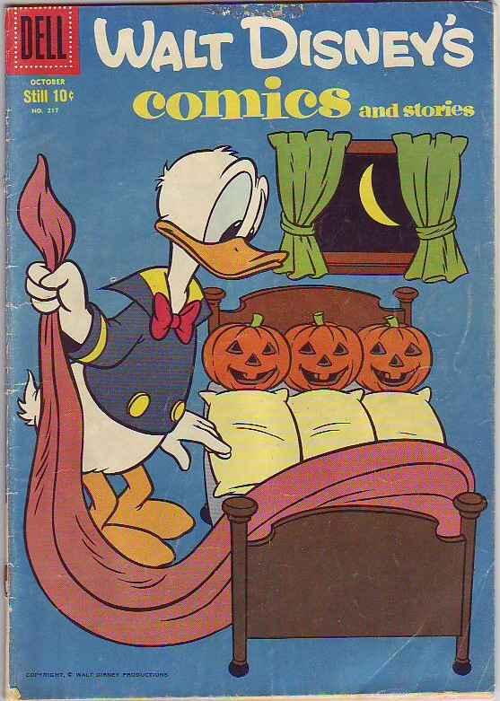 Comics and Stories, Walt Disney's #217 (Oct-58) GD/VG Affordable-Grade Uncle ...