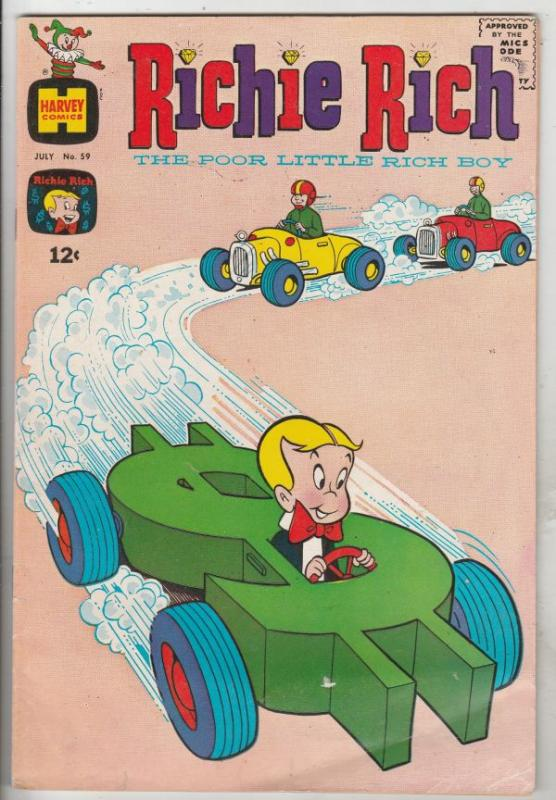Richie Rich #59 (Jul-67) FN Mid-Grade Richie Rich