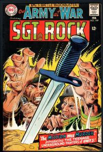 OUR ARMY AT WAR #189 1968-DC WAR COMIC-SGT. ROCK-HIGH GRADE-CGC IT!