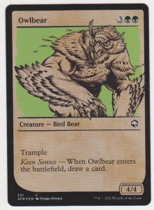 Magic the Gathering: Adventures in the Forgotten Realms- Owlbear(Showcase)