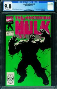 INCREDIBLE HULK #377-CGC 9.8 First Professor Hulk-Marvel 2014539018