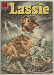Lassie # 30 Strict VG Affordable-Grade Cover Painted Lassie in island huricane
