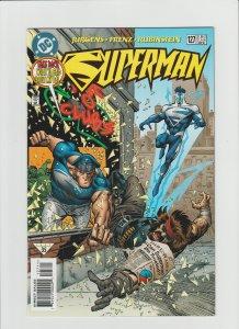 Superman #127 VF/NM 9.0 (1997, DC) Electric Blue Superman!!