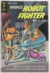 MAGNUS  ROBOT FIGHTER 23 (Gold Key, 8/1968) VG peel-off COMICS BOOK