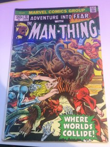 Fear #13 Marvel Adventure Into Fear With The Man-Thing VF 1973
