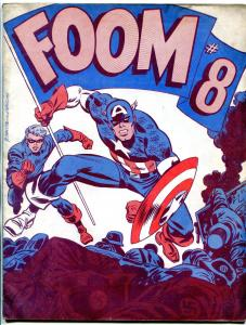 FOOM fanzine #8 1974- captain america john romita marvel comics vg