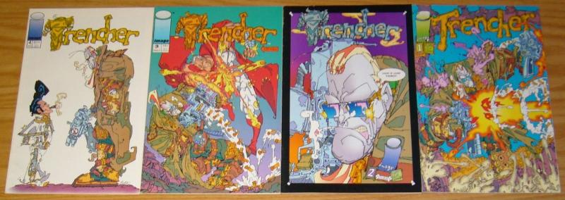 Trencher #1-4 FN/VF complete series - image comics - keith giffen set lot 2 3