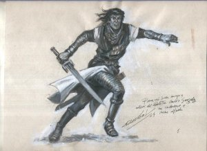 Dibujo de Antonio Bernal: El Capitan Trueno