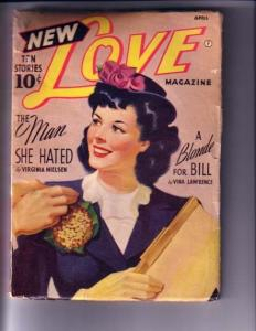 NEW LOVE-APRIL 1942-GREAT COVER-PULP G