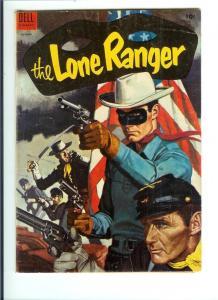 The Lone Ranger #76 1954 - Classic Flag - Golden Age  (Fine)