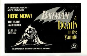 BATMAN-A DEATH IN THE FAMILY-1988-DC-SIGN-vg