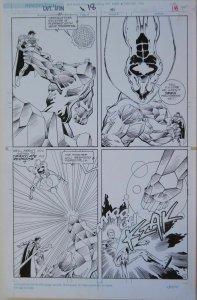 MIKE GUSTOVICH / ROMEO TANGHAL original art, CAPTAIN ATOM #46 pg 18, Superman